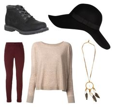 """Sans titre #236"" by margot-52 ❤ liked on Polyvore featuring J Brand, River Island, Sogari and Timberland"