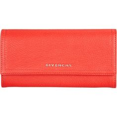 Givenchy Pandora Continental Wallet ❤ liked on Polyvore