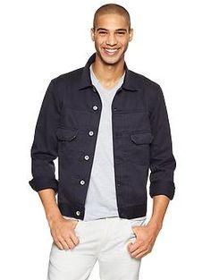 Selvedge khaki jacket - Navy