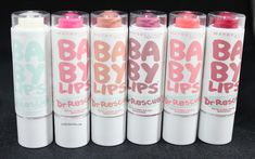 Maybelline has a new collection of Baby Lips (check out my post from June about the Electro Collection! I'm mildly obsessed with lip balm Baby Lips Collection, Makeup Collection, Lip Gloss, Makeup Eyeshadow, Baby Lips Maybelline, Nice Lips, Dry Lips, Cute Makeup, Makeup Products