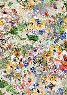 Inspire Wedding | English Rose | lucysaysido print design english country garden floral textile design