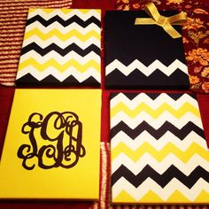 Instead of a Monogram, use the College's Initials and School Colors! Keep the bow :)
