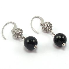 $39.90 Silver and onix earrings