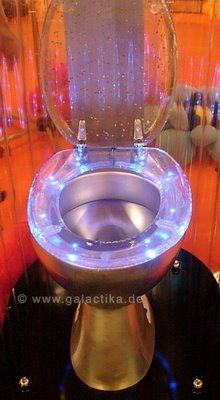 GALACTIKA Toilet Seats - GALACTIKA toilet seats are a transparent bathroom addition that use tiny ultra-bright LEDs to produce a gemlike glow. The sparkling seating is powe. - Amazing Homes Interior Glitter Toilet Seat, Cool Toilets, Theme Galaxy, Toilette Design, Wc Sitz, Aesthetic Room Decor, Dream Bathrooms, Diy Design, Sweet Home