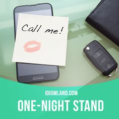 """""""One-night stand"""" is a sexual relationship that lasts for only one…"""