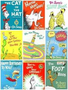 all dr suess books!!!!