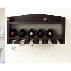 Warm Charlie Cherry Floating Wine and Liquor Rack - 17802010 - Overstock.com Shopping - Great Deals on Prepac Wine Racks