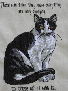 Cross Stitch machine embroidery - Jenny's Embroidery Machine Embroidery, Cross Stitch, Cats, Animals, Punto De Cruz, Gatos, Animales, Animaux, Seed Stitch