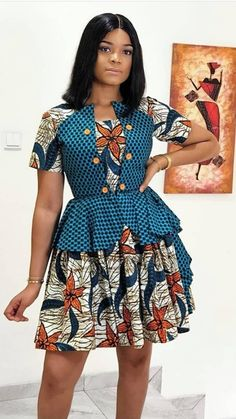 African Dress Styles, African Print Dress Designs, Short African Dresses, Latest African Fashion Dresses, African Print Dresses, African Print Fashion, Africa Fashion, African Attire, Ankara