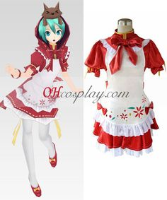Vocaloid Project Diva Red Miku Cosplay Costume