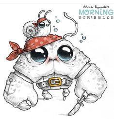 Chris Ryniak is creating Friendly Monster Drawings! Fairy Drawings, 3d Drawings, Disney Drawings, Cartoon Drawings, Animal Drawings, Monster Drawing, Monster Art, Cute Monsters Drawings, Book Sculpture