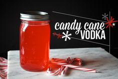 CANDY CANE VODKA ~T~ Put it in hot chocolate or coffee. Make it and put it in a basket with homemade cocoa mix, a bag of coffee and mugs for a great gift.