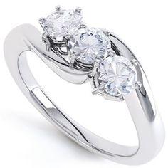 3 Stone Diamond Engagement Ring Claw Set