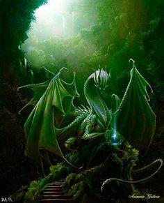 Beautiful Green Dragon