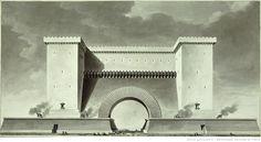 Etienne-Louis Boullée - Porte de ville de guerre (1781)