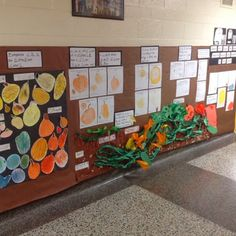 We ended our investigation by measuring the pumpkins. The kids recorded how tall they were. The kids have learned about the pumpkin life cyc...