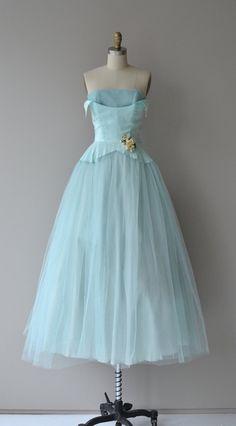 Plus Doux dress tulle 50s dress vintage 1950s by DearGolden