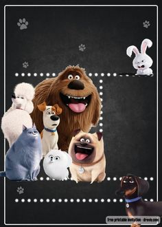 FREE Secret life of pets invitation template — FREE Invitation Templates - Drevio Paw Patrol Birthday Invitations, Free Printable Birthday Invitations, How To Make Invitations, Invites, Baby In Snow, Free Invitation Templates, Secret Life Of Pets, Puppy Party, Pet Costumes