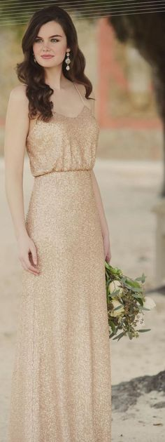 Gold bridesmaid dress by Sorella Vita #ClippedOnIssuu from The Knot Fall 2015