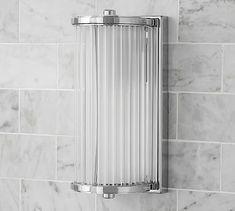 Danlyn Glass Rod Sconce, Chrome, Set of 2 Bathroom Sconces, Modern Wall Sconces, Bathrooms, Shop Lighting, Wall Sconce Lighting, Lighting Ideas, Wall Candle Holders, Mirror Art, Bath Accessories