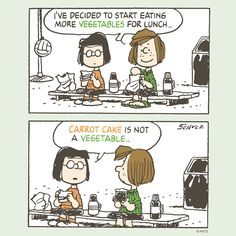 Dying for Chocolate: Cartoon of the Day: Carrot Cake Peanuts Cartoon, Peanuts Snoopy, Peanuts Comics, Snoopy Cartoon, Snoopy Comics, Snoopy Love, Peppermint Patties, Charlie Brown And Snoopy, Illustrations