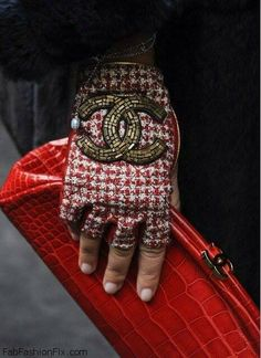 Chanel gloves