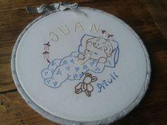 Baptism gift - baby embroidery hoop / bordado para el bautizo / krikstynu dovana  - siuvinetas paveikslelis