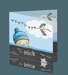 Getekend geboortekaartje jongen krijtbord winter kindje. #geboortekaart #geboortekaartje #zoon