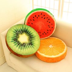 New 2 Sizes 3D Simulation Plush Fruit Cushion Pillow Home Office Sofa Decoration Watermelon Lemon Kiwi Chair Car Seat Pads-in Cushion from Home & Garden on Aliexpress.com | Alibaba Group