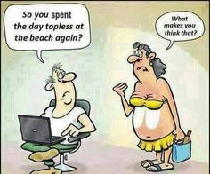 Topless Sunbathing - https://shareitsfunny.com/topless-sunbathing/ - Funny Pictures on  Share Its Funny  #toplessonthebeach