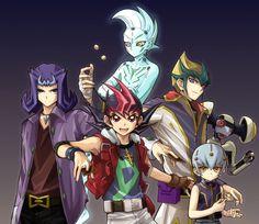 Yugioh - Yuma, Haruto, Astral, Kaito, Shark