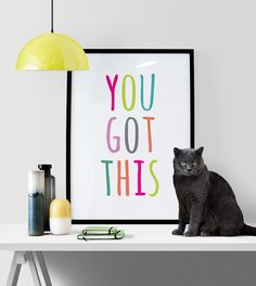 You got this! Printable art in 5x7, 8x10, 11x14 and A4 sizes available automatically after purchase.  You may also like my matching Dream big