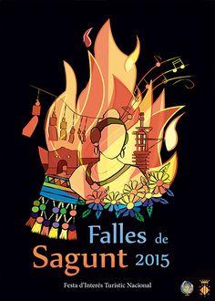 1er premio cartel anunciador Fallas de Sagunto 2015