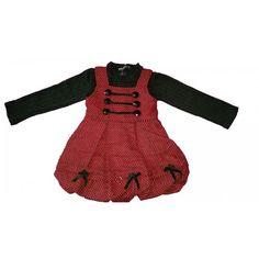 ensemble fille  robe rouge + 1 col roulé noir