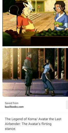 The Avatar's flirting stance; some things never change. Korra is everything that Aang wanted to be as an avatar. She was confident and powerful and knew what she was doing. But Aang is also everything Korra needs to be. Patient and spiritual and humble Avatar Aang, Team Avatar, Avatar The Last Airbender, Avatar Series, Fire Nation, Fan Art, Zuko, Legend Of Korra, Anime Shows