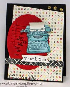 Lisa Young: Add Ink and Stamp – Tap, Tap, Tap - 10/30/14 (SU - Stamps: Tap, Tap, Tap; An Open Heart.  Flashback dsp, Oval framelits)