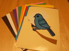 Bird file folder story Blue bird, blue bird, High in a tree, How many blue things can you see?