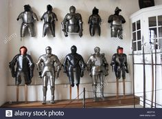 17th Century Suits Of Armor On Display In The Old Castle At Meersburg Stock Photo, Royalty Free Image: 13652814 - Alamy