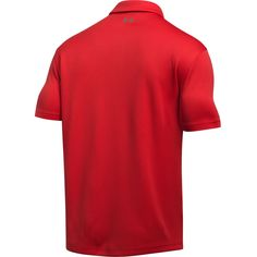 Add your custom embroidered company logo to an Under Armour Men's Red and Graphite Grey Tech Polo Shirt for the ultimate UA corporate polos or promotional polo shirts that are perfect for everywhere from the office to the golf course. Golf Polo Shirts, Golf Outfit, Under Armour Men, Shorts With Pockets, Graphite, Gym Men, Short Sleeves, Tech, Mens Tops
