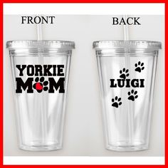 Yorkie Mom Double Wall Tumbler