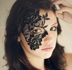Masquerade Mask - Black Lace Mask - Mardi Gras Mask - Womens Costume - Strapless Face Lace Masks - Half Mask - One Eye Mask - Dance Costume Masquerade Mask Template, Blue Masquerade Masks, Face Lace, Mask Dance, Female Mask, Carnival Festival, Lace Mask, Half Face Mask, Queen Costume