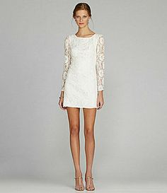 MM Couture by Miss Me Open-Back Lace Dress on shopstyle.com. Perfect for bride to be. $72