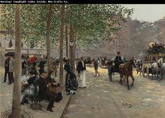 Jean Beraud  Avenue Parisienne