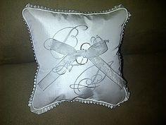 Monogrammed ring bearer's pillow