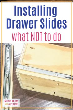 While converting a kitchen cabinet into a pull out trash drawer I made 3 main mistakes in installing the drawer slides. Woodworking Projects Diy, Diy Wood Projects, Furniture Projects, Furniture Plans, Woodworking Shop, Woodworking Plans, Diy Furniture, Welding Projects, Installing Drawer Slides