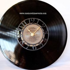 Cool DIY Gift Projects for Father's Day | Vintage Record Clock by DIY Ready at http://diyready.com/21-cool-fathers-day-gift-ideas/