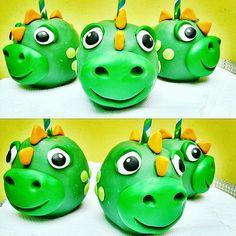 Dinosaurio manzanas de chocolate
