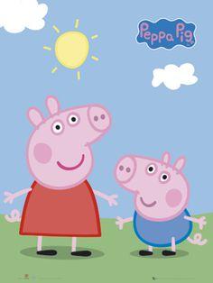 Peppa Pig + George poster Más