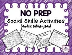No Prep Social Skills Activities For The Entire Year!! - Speech Time Fun