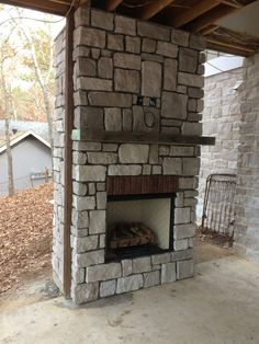 How we Built Our Outdoor Fireplace on our Patio Porch – Life with Neal & Suz